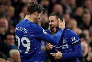 And celebrates with Hazard.