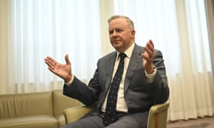 Australian Opposition Leader Anthony Albanese speaks during an interview with Australian Associated Press in Canberra, Wednesday, July 1, 2020. (AAP Image/Lukas Coch) NO ARCHIVING