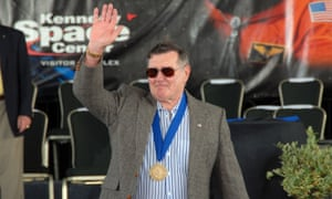 Dick Gordon during the 2009 US Astronaut Hall of Fame induction ceremony at Cape Canaveral.