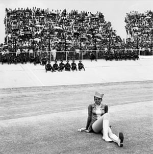 Drum majorette, Cup final, Orlando Stadium, Soweto, 1972 (Goldblatt)Goldblatt, born in 1930 in Randfontein, was a self-taught photographer. For over seven decades he captured South Africa's towns, cities, landscapes people and buildings.