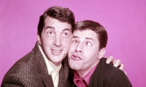 Lewis, right, with Dean Martin in 1955.