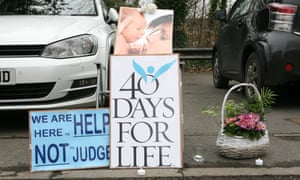 40 Days for Life posters in Manchester