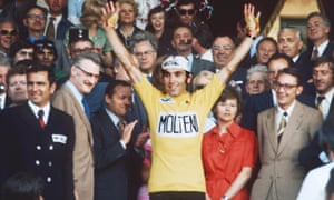 Eddy Merckx winning the Tour de France for the fifth time, 1974.