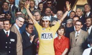 Eddy Merckx after his fifth and final Tour de France victory in 1974.