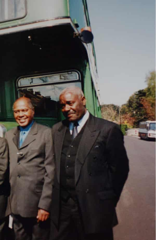 Stephenson with fellow protester Guy Bailey in 2003, on the 40th anniversary of the bus boycott campaign.