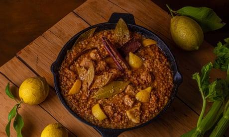 Sausages, lentils and lemon by Joe Trivelli