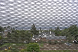 The view through Hill House's chainmail membrane.