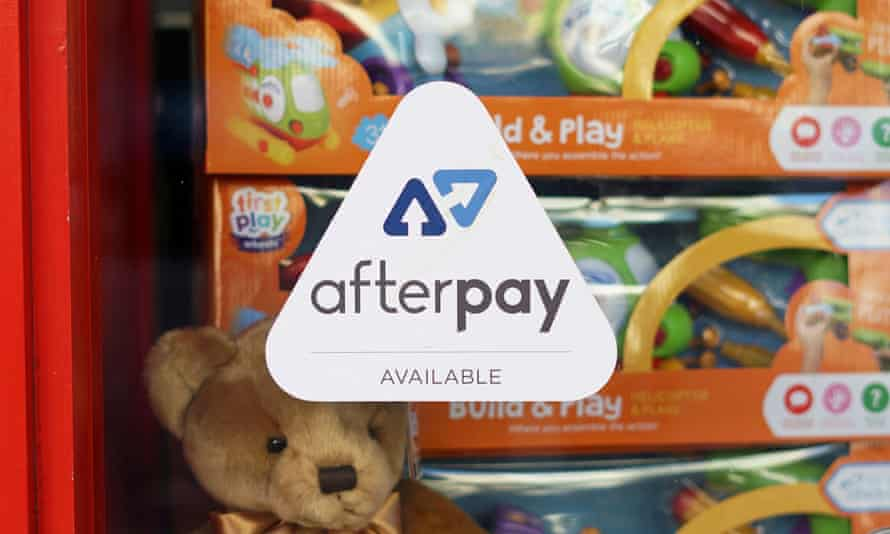 Afterpay sign in a shop window