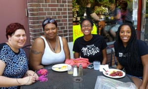 From right: Taylor Payne, CheyOnna Sewell and two members of The Yarn Collective