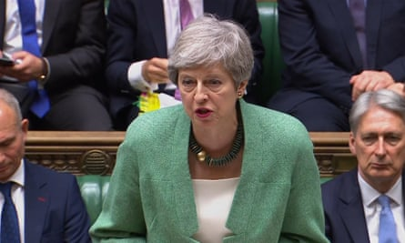 Theresa May speaks at PMQs