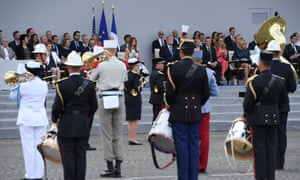 Music for presidents: the Macrons and the Trumps at the Bastille Day celebrations.