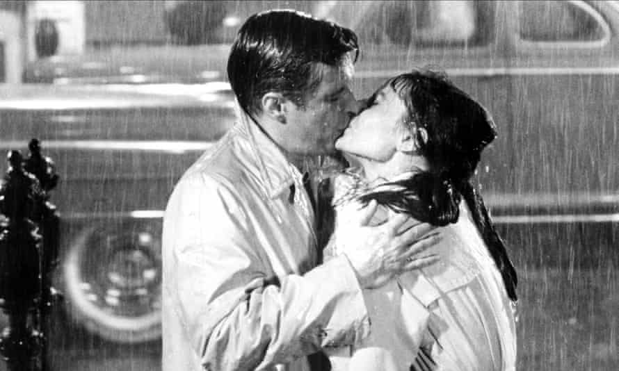 George Peppard and Audrey Hepburn in Breakfast at Tiffany's.