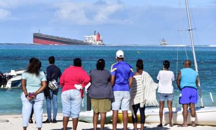 The MV Wakashio bulk carrier ran aground near Blue bay Marine Park in southeast Mauritius