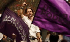 The leader of Podemos, Pablo Iglesias