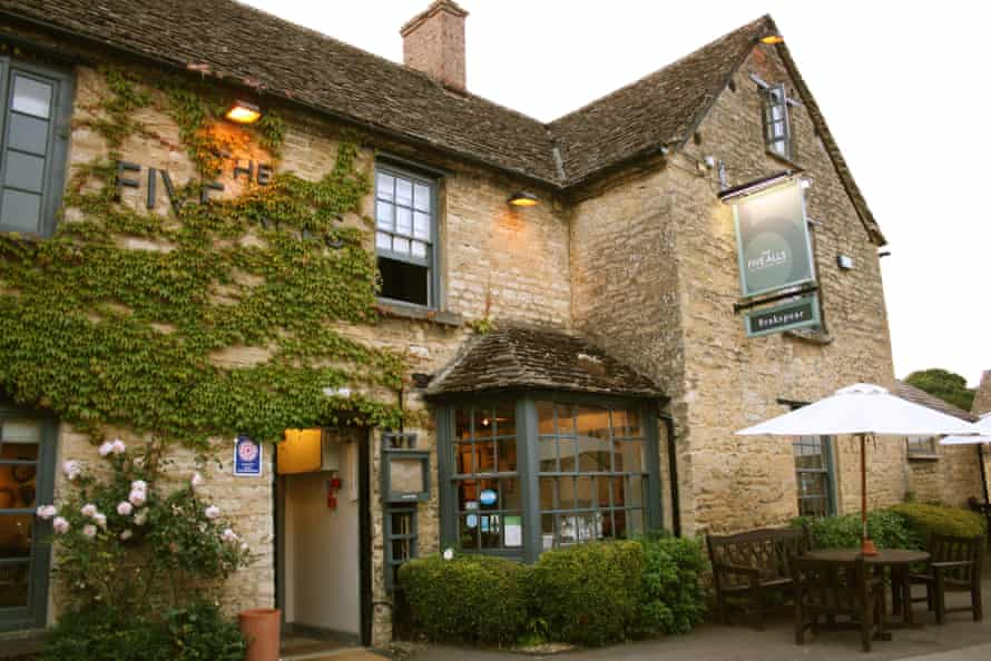 Cotswold charm: The Five Alls, near Lechlade, Gloucestershire.