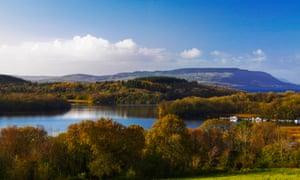 Widescreen shot of Lower Lough Erne.  Enniskillen, County Fermanagh, Northern Ireland.