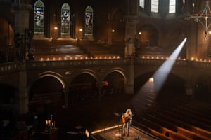 'I loved it!' ... Laura Marling performing in the empty Union Chapel.