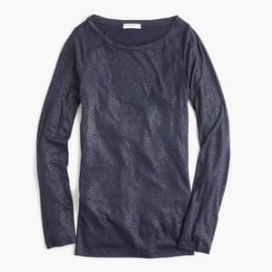 "£42.50, <a href=""https://www. /uk/womens_category/Tshirtsandtanktops/longsleevetshirts/PRD~E4364/E4364.jsp?Nbrd=J&amp;Nloc=en_GB&amp;Nrpp=48&amp;Npge=1&amp;Ntrm=metallic+t+shirt&amp;isSaleItem=false&amp;color_name=NAVY%20SILVER&amp;isFromSearch=true&amp;isNewSearch=true&amp;hash=row3""> </a>"