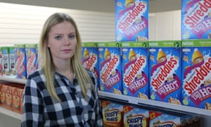 Lisa Wilson, owner of Christchurch speciality shop, A Little Bit Of Britain ,which has been told it can not sell British Weetabix in its current packaging.