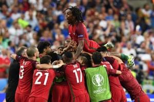 And Portugal's celebration begins.