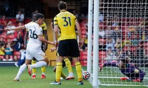 Wolverhampton Wanderers' Hwang Hee-Chan scores their second goal.