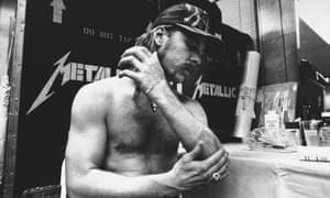 James Hetfield, lead singer and rhythm guitarist for metal group Metallica.