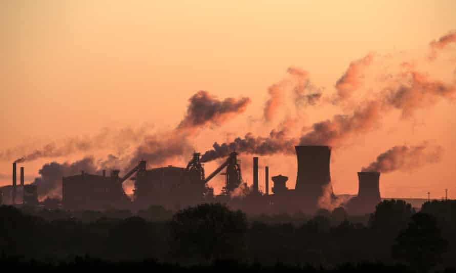 British Steel's Scunthorpe plant.