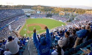 Fans at Dodger Stadium.