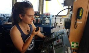 Carola Rackete docked her migrant rescues ship in Lampedusa last week.