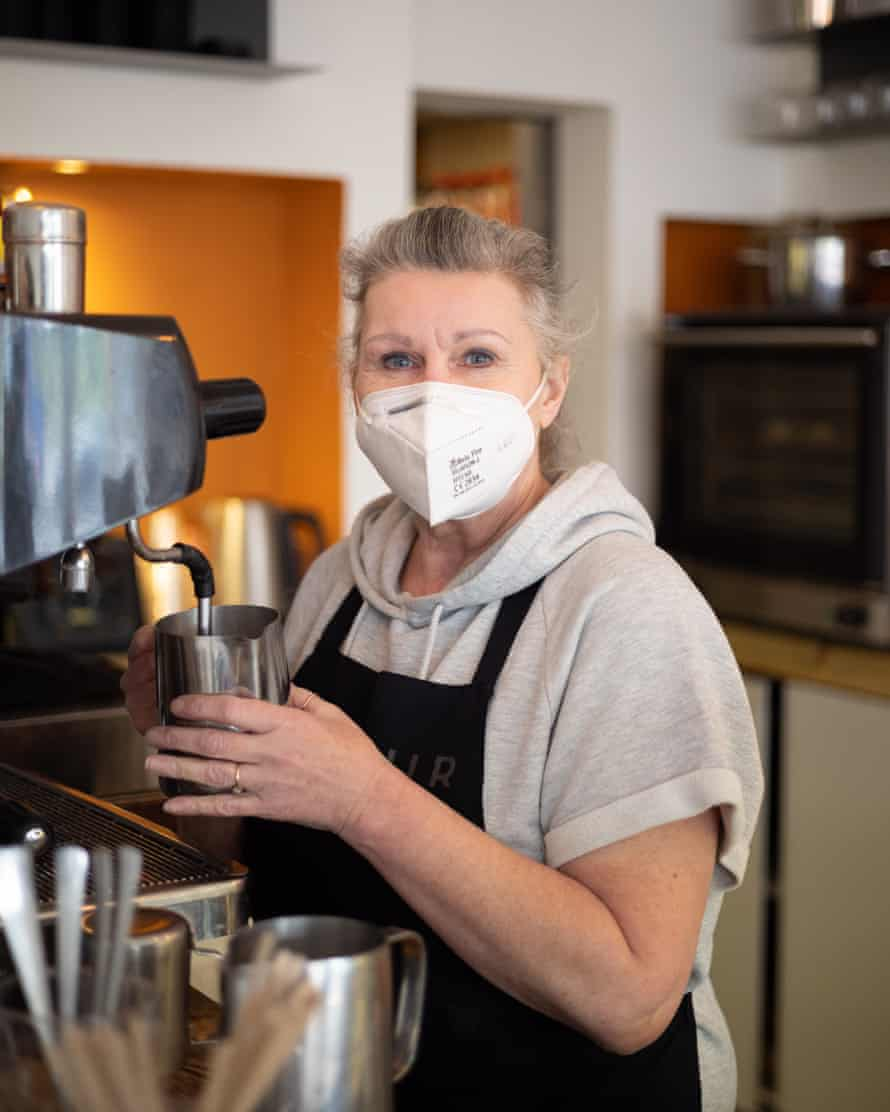 Beth Forbes, a barista at The Parlour, in Herne Hill, south London