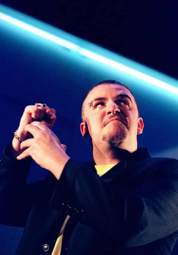 David Rees Talbot in Crazy Gary's Mobile Disco at the Lyric studio in 2001.