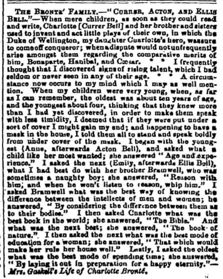 Manchester Guardian, 9 April 1857.