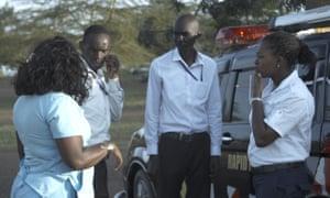 Evalyne Nyangweso briefs her team of first responders.