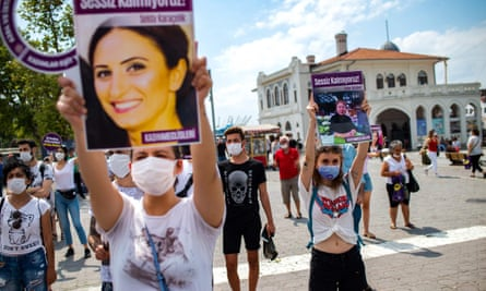 protest called by KCDP (We Will Stop Femicides Platform) in Istanbul, 19 July 2020.