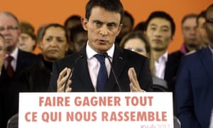 Manuel Valls announces his candidacy in Evry on Monday.