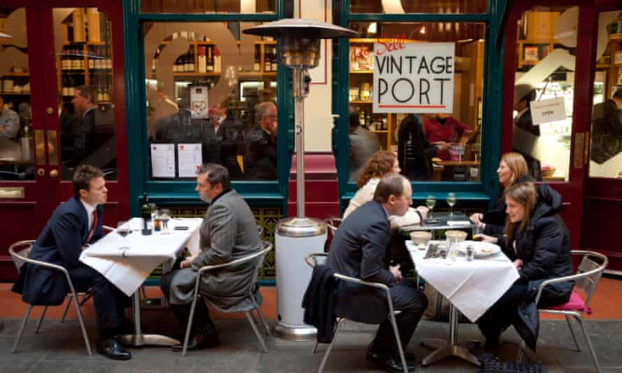 Dying breed … lunchers at Leadenhall Market in London.