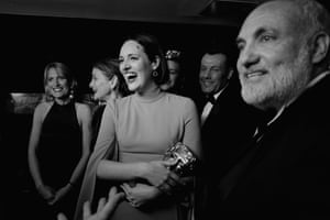 Phoebe Waller-Bridge with the Killing Eve cast and crew