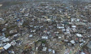 Jeremie, in western Haiti, was badly damaged by the hurricane.