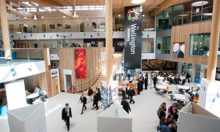 Atrium inside Wellington academy