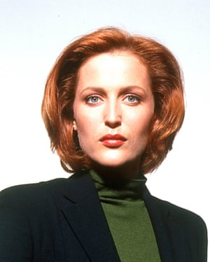 Gillian Anderson as Scully in the X-Files.