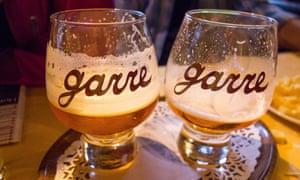 Two glasses of Tripel De Garre