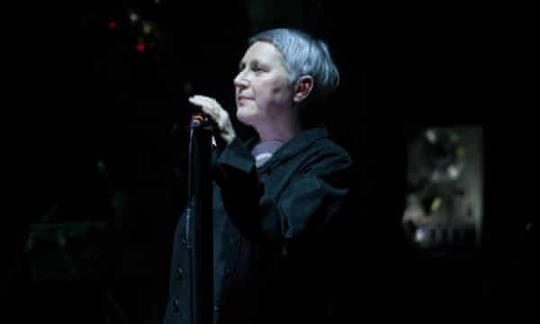 Elizabeth Fraser with Massive Attack at the Hydro, Glasgow, last month.