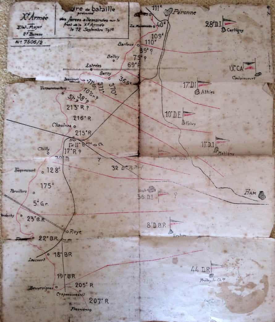 Order of battle for 12 September 1916.