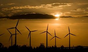 A wind farm near Dessau, Germany.