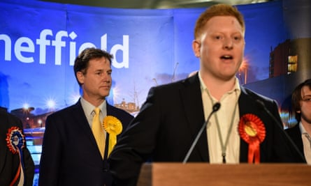 O'Mara giving his victory speech after defeating Nick Clegg in Sheffield Hallam last week