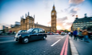 A taxi in Westminster.
