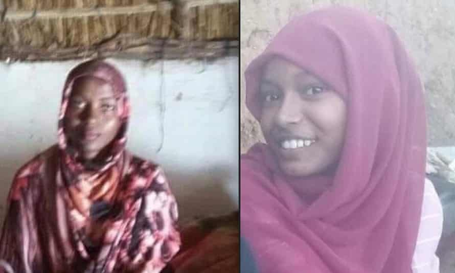 Sajida Omer, left, who was allegedly killed in North Darfur by her father and brother, and Samah el-Hadi, who was allegedly killed by her father in Omdurman.