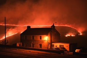 The fire near Marsden