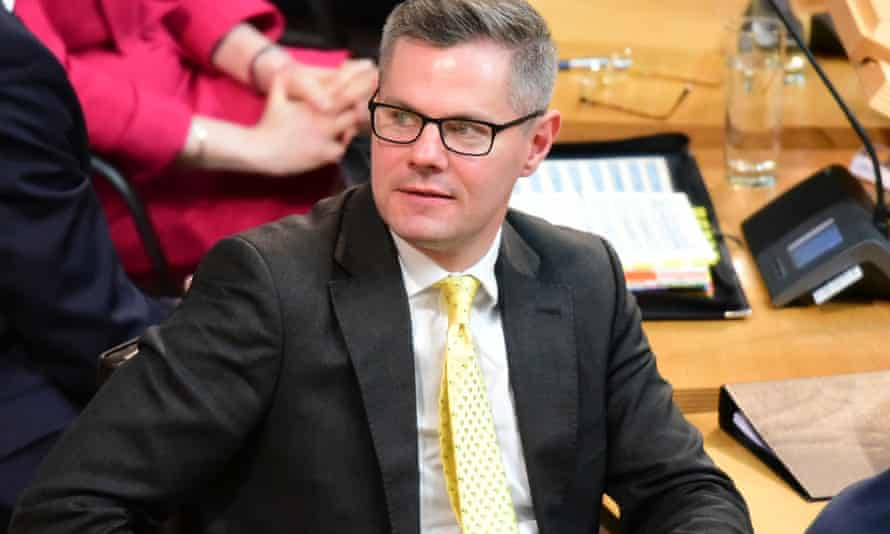 The Scottish finance secretary, Derek Mackay