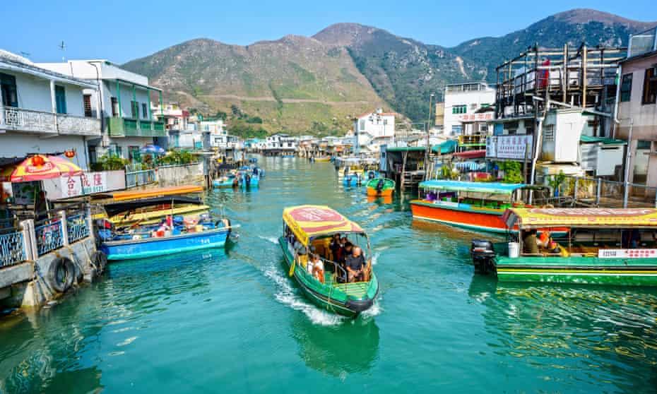 Tai O fishing town on Lantau Island, Hong Kong.